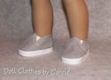 "Gray Canvas Loafers fit 18"" American Girl Dolls - Clothes - Boat Shoes - Boy"