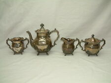 VINTAGE SILVER CITY SILVERPLATE 4 PIECE COFFEE TEA SET - Meriden CT - BEAUTIFUL