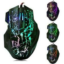 2015 5500DPI 7D LED Optical USB Wired Gaming Mouse Mice for LOL RAZER WOW CF CS