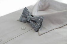 BOYS TODDLER KIDS WHITE POLKA DOT PATTERN BOW TIE WEDDING SCHOOL PAGEBOY BOWTIE