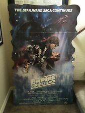 Vintage Empire Strikes Back Theater Lobby Movie Standee Poster Rare Star Wars