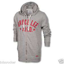 UNDER ARMOUR BRUCE LEE ROOTS OF FIGHT FULL ZIP COLDGEAR GRAY SZ XL HOODIE NWT