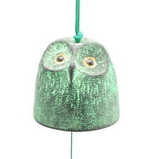1pc Japanese Green/Gold Owl  Wind-Chime for Made In Japan #485-294