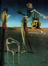 Salvador Dali Woman and roses giclee 8X12 canvas print Reproduction of painting
