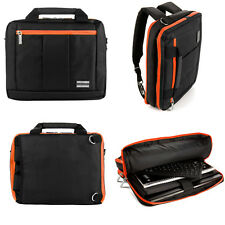 Backpack Messenger Bag for MSI GE70 Apache Pro-012 17.3-Inch Laptop Black/Orange