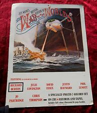 WAR OF THE WORLDS JEFF WAYNE MUSICAL VERSION 1978 ADVERTISING CARD POSTER RARE