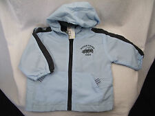 BNWT Sz 3 Little Boys BQT Brand Blue Polar Fleece Lined Zip Front Hoodie Jacket