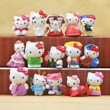 Hello Kitty Japan Anime Cute Mini Figures Collection Decoration Toy Gift 16 PCS