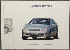 POSTCARD ~ MERCEDES-BENZ C 230 KOMPRESSOR ~ DAIMLER CHRYSLER ~ 2001