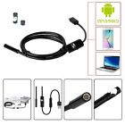 5/15M Android Endoscope 7mm 6 LED USB Waterproof Borescope Inspection camera lot