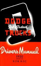 1950 Dodge Truck B-2-B B-2-C Owners Manual User Guide Reference Operator Book