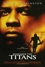 REMEMBER THE TITANS 2000 Original DS 2 Sided 27x40 US Movie Poster D Washington