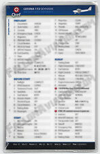 Cessna 172 Skyhawk Universal Quick Reference Aircraft Checklist Card by Qref