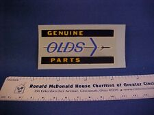 """""""Genuine OLDS Parts"""" Oldsmobile car show detailing decal from old stock--nice"""