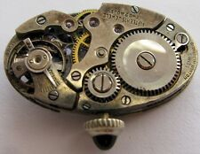 vintage Swiss oval Watch Movement P. Ditisheim & Winton for parts