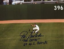 Mets Ron Swoboda signed 8x10 2 Inscriptions The Catch 69 WS Champs W/COA pose 1