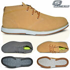 Mens Skechers On the Go Lightweight Leather Chukka Desert Ankle Boots Shoes Size
