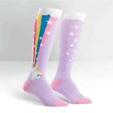 Sock It To Me Women's Funky Knee High Socks - Rainbow Blast