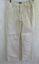 NYDJ Not Your daughters Jeans Size 14 Natural Beige Straight Leg Trouser
