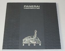 Officine Panerai Watch Laboratorio Di Idee 2006 Catalogue 92 Pages NEW Luminor