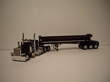 DCP 1/64 BLACK TRIAXLE 389 PETE WITH 36'' SLEEPER & TRIAXLE SIDE DUMP TRAILER