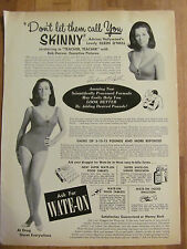 Eileen O'Neill, Wate-On, Full Page Vintage Promotional Ad