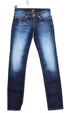 NWT $300 DOLCE & GABBANA D&G Blue GIRLY Tight Straight Logo Jeans Pants W24/ US0