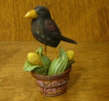 Jim Shore Heartwood Creek #4041148  Mini CROW on BASKET, NEW from Retail Store