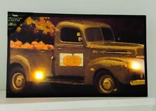 Flickering Lights Canvas Pumpkins For Sale Truck Unique Original Fall Decor