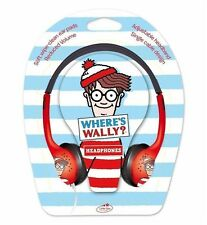 Where's Wally Childrens Headphones Earphones Kids Little Star Reduced Volume