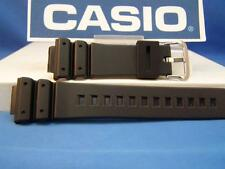 Casio watch band DW-6900 DW-6600 DW-6200 Steel Buckle.Black Resin 16mm Strap