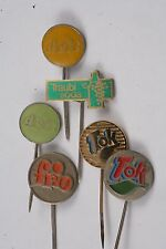 Yugoslavia Lot 6 Soda Advertisement Tok Frio Deit Traubi Pin Badge Ad button