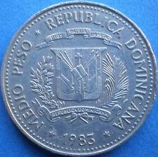 DOMINICAN REPUBLIC 1/2 PESO 1983 Dominicana Dominikanische Dominicaine Dom Rep