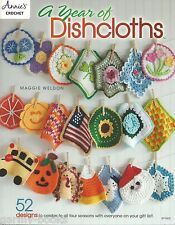 A Year of Dishcloths Washcloth Crochet Instruction Pattern Book Annies Attic NEW