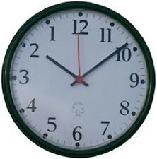 Anticlockwise, Reversing, Barbers Shop Clock, Green Wall Clock New and Boxed.