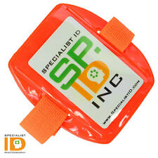 Reflective Orange Arm Band ID Badge Holder R504-ARNO