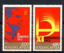 Yougoslavie 1978 SG # 1821-2 congrès Ligue communiste neuf sans charnière set #a 32956