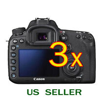 3x Clear LCD Screen Protector Guard Cover Film For Canon EOS 7D Mark 2 II Camera