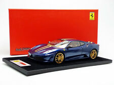 Looksmart 2010 Ferrari 430 Scuderia Blue w/ Golden Stripe and Wheels 1/18 New!