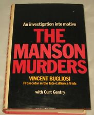 THE MANSON MURDERS - VINCENT BUGLIOSI - FIRST EDITION