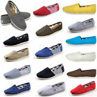 New Women Men's Shoes Slip-on Casual Flats Solid Canvas Leisure Loafers Shoes