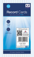 Anker International Stationery, 100 Lined Record Note Cards, 127 x 75mm Size