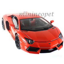 WELLY 18041W LAMBORGHINI AVENTADOR LP700-4 1/18 DIECAST MODEL CAR ORANGE