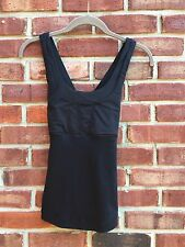 Lululemon Run Stuff Your Bra Black Mesh Criss Cross Back Top Work Out 6 * RARE!