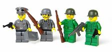 custom WW2 German Wehrmacht and US Army Soldier  made w/ real LEGO(R) minifigure