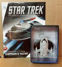 Star Trek Eaglemoss Enterprise Captain's Yacht  Shp Starship & magazine #75