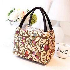 Owl Picnic Lunch Bag Cooler Box Handbag Pouch Magic