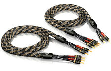 ViaBlue SC-4 Silver-Series Bi-Wire Lautsprecherkabel 2 x 3,0m mit T6s Bananas