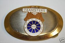 Vintage Local TEAMSTERS IB of TCW & H of A 456 Belt Buckle RARE