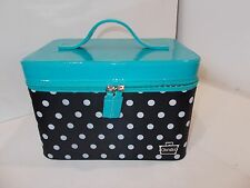 Caboodles Gilded Pleasure Nail Valet with White Polka Dots, Black BROKEN ZIPPER